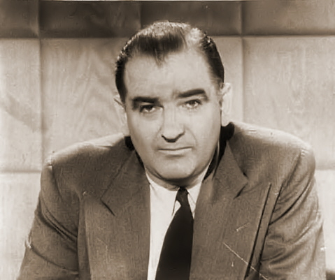 Senator Joe McCarthy, perpetual boogeyman of the Left.