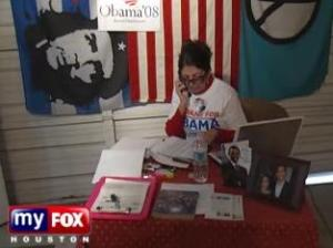Maria Isabel: Che fan, Obama campaign worker and town hall attendee