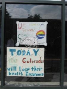 "Site of staged ""hate crime"": Colorado Democratic Headquarters"
