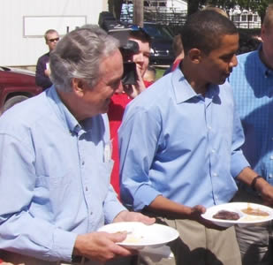 Senator Tom Harkin, with Barack Obama