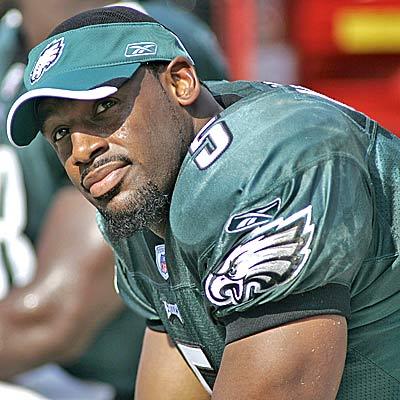 "Quarterback Donovan McNabb, whom Rush Limbaugh said was ""overrated"""